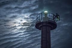 The Super Moon and a light house (tetsuyakatayama) Tags: moon moonlight fullmoon supermoon night nightscape nightview sky cloud japan nagasaki