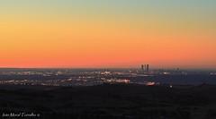 Skyline Madrid a 42km (ivánmoral) Tags: madrid skyline cuatrotorres towers torres amanecer canon70200mm28 colmenarviejo