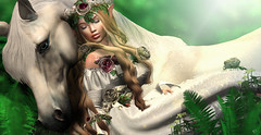 Peaceful rest (meriluu17) Tags: itgirls foxcity lode elven elf fairy fae horse horsey animal peace rest minds sleep dream nature people portrait outdoor surreal fantasy