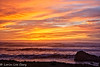 Horizon Series #47 (lorinleecary) Tags: california cambria clouds rocks waves dramaticsky fiscaliniranch horizons orange red sunset textured