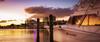 Golden Sunset (kud4ipad) Tags: 2017 goldenisles hallandale miami smcpentaxda1645mmf40 sunset boat cloud reflection building pier cityscape sky skyline water city