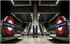 Canary Wharf (mariolka3) Tags: noflash nikkor2470 nikon financialdistrict london blackwhite monochrome underground tubestation canarywharf