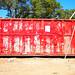 Big red dumpster
