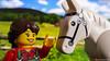 my new horse :) (black.zack00) Tags: horse lego minifig toy funny cute farmhouse brick farmer
