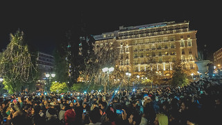 Syntagma Square during New Year