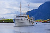 The Royal Yacht K/S  Norge (G E Nilsen) Tags: the royal yacht brønnøy brønnøysund ship sommer norway nordnorge northernnorway boat sea sky vessel water beacon