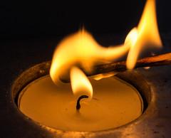 Flame (alison's daily photo) Tags: macromondays macro flame tealight match 7dwf