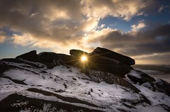 Shinning through (Phil-Gregory) Tags: nikon d7200 tokina tokina1120mmatx 1120mm 1120mmf2811 peakdistict rocks sunstar sunrise morning light naturalphotograph naturephotography natural national naturalworld countryside derbyshire snow cloudscape clouds ngc scenicsnotjustlandscapes