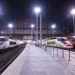 TGV SE n°01  ( PSE : Paris / Sud-Est ) + TGV IZY + TGV Thalis Gare du Nord Paris thumbnail