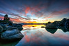 Sand Harbor Sunset, Lake Tahoe, Nevada (Beau Rogers) Tags: laketahoe sierranevada sand sandharbor nevada pink west water lake pretty scenic granite silhouette