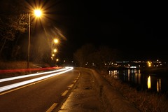 Sunny headlights (Madrose27) Tags: lights westcork road streetlamps headlights 30seconds reflection winter river car longexposure nightshot