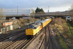 37116 TnT 37254 Lincoln (tractor37194@googlemail.com) Tags: class 37 network rail 37116 test train 37254 lincoln central derby rtc