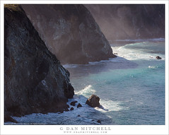 Coastal Cliffs, Mist And Shadows (G Dan Mitchell) Tags: mist morning light illuminate cliff headlands descend pacific ocean coast waves surf rocks landscape seascape nature highway california usa north america big sur