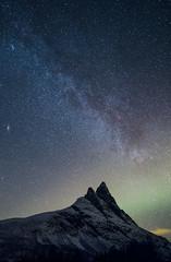 Otertinden #2 (B_Olsen) Tags: blue otertinden troms norway melkeveien milkyway stars nightphoto longexsposure nightsky