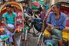 Rickshaws - Dhaka, Bangldesh (Maciej Dakowicz) Tags: fujifilmxseries fujifilmxt2 bangladesh dhaka city people rickshaw streetphotography street