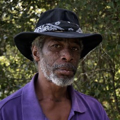 """""""They call me 'Rambo'"""". (Mike McCall) Tags: copyright2013mikemccall photography photo image georgia usa culture southern america thesouth unitedstates northamerica south africanamerican portrait man colored color brown black long county ludowici vietnam war veteran disabled"""