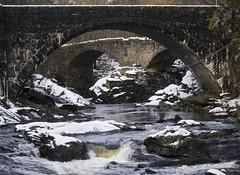 arch bridges (CaetanoCandal) Tags: thomastelfordbridge rivermoristonfalls invermoriston highlands scotland river falls snow stone bridge arch