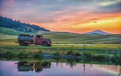 DSC_0647-Edit (rbelstad) Tags: wheat trees steptoe palouse pond oldtruck farm clouds