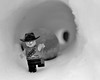 RUN! (008/365) (robjvale) Tags: d3200 nikon adventurerjoe project365 winter snow rock boulder run danger escape cold