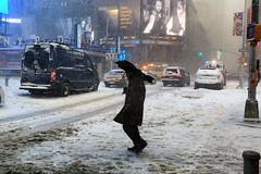Snow storm (erichudson78) Tags: usa nyc manhattan timessquare canoneos6d canonef24105mmf4lisusm snow neige streetphotography voiture car rue street 7dwf panneau newyorkcity newyorkblizzard snowstorm tempêtedeneige winter hiver janvier january silhouette froid cold blizzard snowfall wideangle grandangle town ville