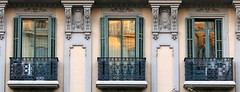 Three balconies, Barcelona