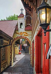 A Cobblestone Alley off Main Street in Helen Georgia (PhotosToArtByMike) Tags: helengeorgia helen georgia ga alpinehelen cobblestonealley cobblestone cobblestonestreet alpinevillage german bavarian alps chattahoocheeriver bavarianvillage mainstreethelen alpinearchitecture shoppingvillage georgiaroute75 he c