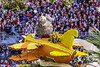 Cal Poly biplane (Thad Zajdowicz) Tags: zajdowicz pasadena california roseparade 2018 usa outdoor outside canon eos 5dmarkiii 5d3 digital dslr color colour festive availablelight lightroom ef70200mmf4lisusm people animal airplane biplane wings street parade urban orange yellow