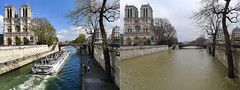 Paris, Seine overflowing, Navigation not permitted ! (01/2018) (Patnrita) Tags: france paris seine crue floodings notredame