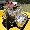 Blown Hemi in 1972 Chevy Luv (Bill Jacomet) Tags: hot rod riot 2018 schroeder hall goliad tx texas car show automobile auto 1972 72 chevy chevrolet luv pickup truck yellow blown supercharged blower supercharger engine motor