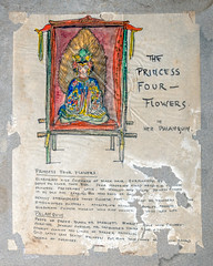 Princess Four Flowers Costume Design (Madison Historical Society (CT-USA)) Tags: madisonhistoricalsociety madisonhistory mhs madison conn connecticut ct connecticutscenes country usa newengland nikon nikond600 d600 bobgundersen old historical history museum jitneyplayers woodlandgardenplays barntheatre theplaybarn interesting image outside outdoor exterior photo picture places people performer costume shoreline shot scene scenes bostonpostroad route1 flickr design art constancegrenellewilcox constancewilcoxpignatelli princess alicekeatingcheney