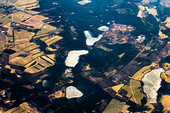 Frozen Lakes in Denmark (The Ultimate Photographer) Tags: plane travel window canon6d canon 70200mm lense sky viewfromthesky viewsky lakes lake frozen nature landscape yellowfields denmark aarhus holiday forest freezing temperature cold icy icylakes ices photography tourist aeroplane avion vuedavion vuduciel fields froid lac gelee