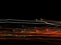 063/365: light reverberations (Michiko.Fujii) Tags: drawingwithlight liquidlight citylights neighbourhood eveningwalk linesoflight lighttrails blur bluristherule blurry blurisbest doodlingwithlight theshakes shaky shadowsandlight lightandmovement