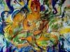 a batic of Buddha - by Keith Hansen - Sydney artist! (keiths artwork) Tags: artists diaries by keith hansen international artist buddha monkeys owls