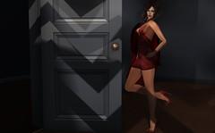 Open Doors (Roudoudou Hirons) Tags: firestorm secondlife avatar virtualworld mundosvirtuales woman red