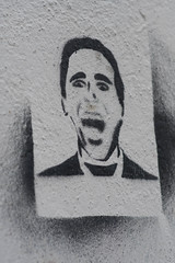 Aaaaaaaaaaaaaah! (Neil B's) Tags: random stencil aaaaaaaaaaah shut blacktie paint spray wall art odd