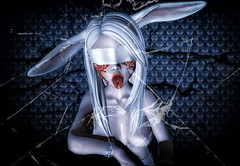 Bunny girl (ZameNezrulain) Tags: zame bunny girl bunnygirl sexy cute spooky creepy broken dark mesh bento aii usagi blindfold photo photography photoshop art edit sl secondlife second life catwa cureless limerence