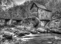 Babcock State Park BW-3 (thomascblue) Tags: babcockstatepark gristmill landscape
