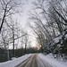 Winter road to Robinson Park, Sandstone, Minnesota