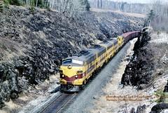 (SEE & HEAR)---LTV 4211-25-23-24-06-10, Taconite Harbor, MN. 4-13-2000 (jackdk) Tags: train railroad railway emd emdf7 emdf7a emdf9 f7a f7 f9 f9a ltv locomotive taconite ore oretrain taconiteharbor taconiteharbormn seeandhear seehear coveredwagon