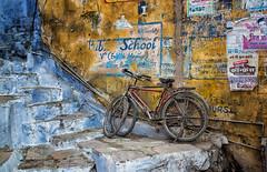 India (mokyphotography) Tags: india rajastan bundi bikes biciclette street strada blu canon landscape