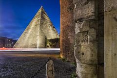 piramide (gianmarco giudici) Tags: roma piramide architecture longexposure scieluminose nopeople urban nikond600 gianmarcogiudici portasanpaolo ostiense