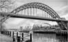Newcastle Upon Tyne . (wayman2011) Tags: f2 fujifilmxf23mm lightroomfujifilmxpro1 wayman2011 bwlandscapes mono city town urban architecture bridges rivertyne river quays tynewear tyneside newcastlequayside newcastle uk