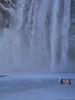 Watch Out! (katrin glaesmann) Tags: iceland skogafoss unterwegsmiticelandtours photographyholidaywithicelandtours snow winter frozen spray warning sign watchout
