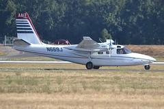 N669J (LAXSPOTTER97) Tags: airport aviation airplane kpdx aero commander twin 500b cn 500b1304119 ln 119