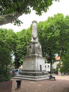 Franco-Prussian War memorial, Place Lafayette, Cahors, France