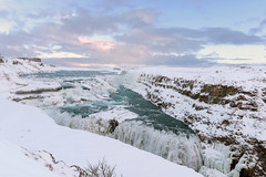 Gullfoss waterfall, Iceland (George Pachantouris) Tags: iceland north arctic cold winter snow white ice frozen freeze gullfoss nordics