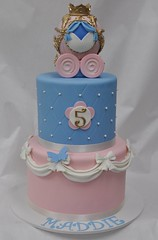 Cinderella birthday cake (jennywenny) Tags: cinderella cake pink blue butterfly carriage 5th birthday
