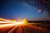 Milky Way Pass (free3yourmind) Tags: milky way pass passing car lights speed fast nature night sky stars starry bralsaw braslav belarus