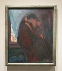 Valentine's Day Colours - The Kiss (Pushapoze (nmp)) Tags: valentinesday kiss flowers embrace baiser embrasse painting tableau edvardmunch