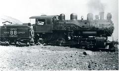 united verde copper co 88 (Verde Canyon Railroad) Tags: locomotive steam steamengine historic vintageimages railroad verdevalley arizona clarkdalejerome